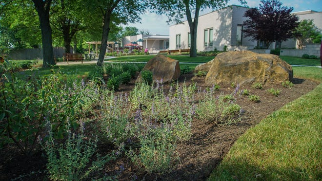 The new Dory Zatuchni Village Garden on the side of the Jewish Family Services of Delaware building is now open for visitors to enjoy.