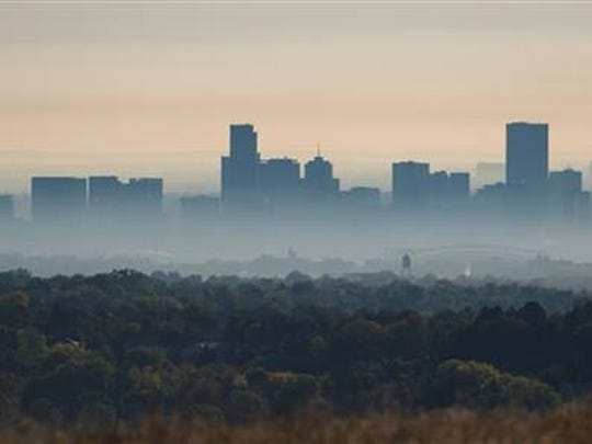 Smog has led to heightened ozone levels in Denver.