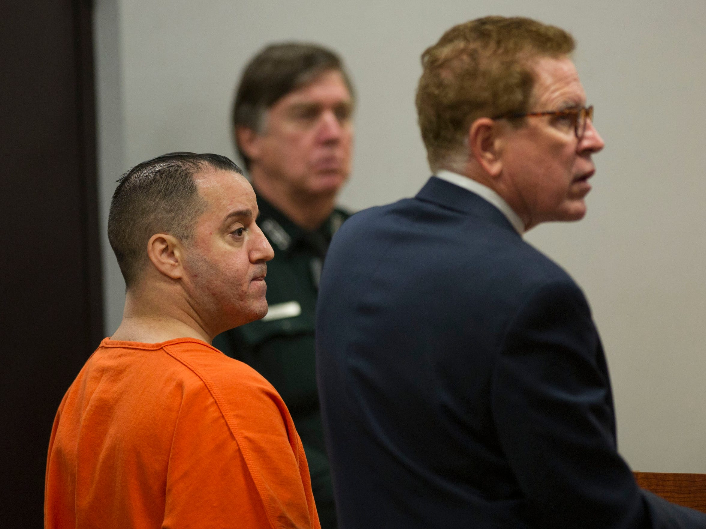 Victor Brancaccio (left), and his defense attorney