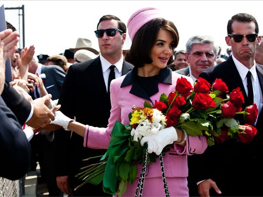 Katie Holmes, seen here portraying Jacqueline Kennedy