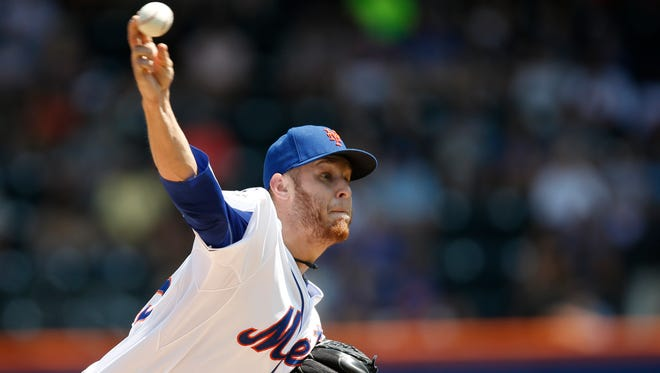 Mets starting pitcher Zack Wheeler delivers in the first inning against the Philadelphia Phillies at Citi Field on Wednesday.