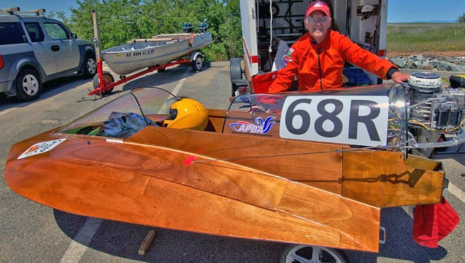Bob Smiley with one of his boats.