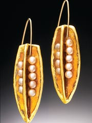 Pictured: Jewelry by Keith Lewis. Spring Crafts at
