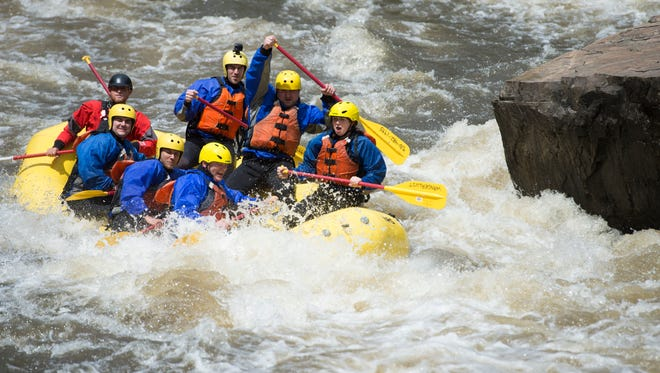 Rafting the Cache la Poudre River is an exciting experience, especially during times of high water.