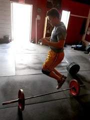 Maxx Nowitzke of Weston works out at Wausau CrossFit,