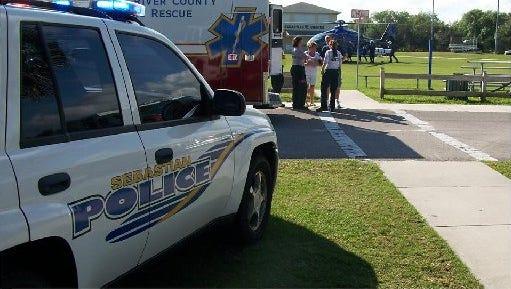 A Sebastian police patrol car, not pictured, crashed into a stolen car Thursday night.