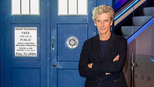 """FILE- This is a Sept. 10, 2015 file photo of actor Peter Capaldi posing in Cardiff, Wales. Capaldi said Tuesday, Jan. 31, 2017, he is quitting the lead role in BBC science fiction series """"Doctor Who"""" at the end of the year."""