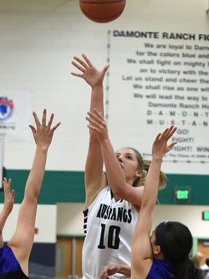 Morgan Waller shoots during a game against McQueen on Dec. 1.