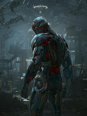 A villainous robot played by James Spader gives superheroes fits in 'Avengers: Age of Ultron.'