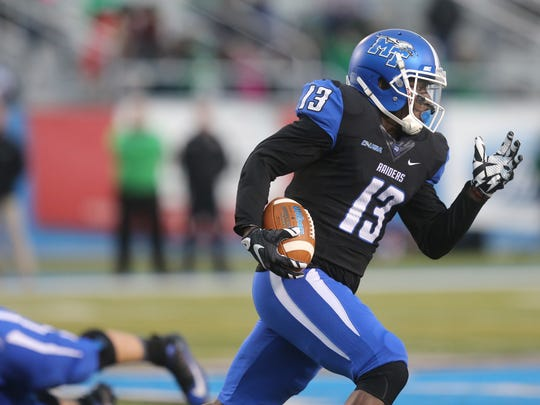 MTSU's Demetrius Frazier (13) could have a breakout year this season.