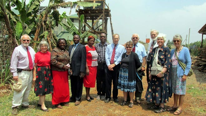 Some of the Webster Presbyterian Church missionaries pose with their Kenyan hosts.