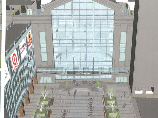 Kite Realty's plans for renovation of the plaza between