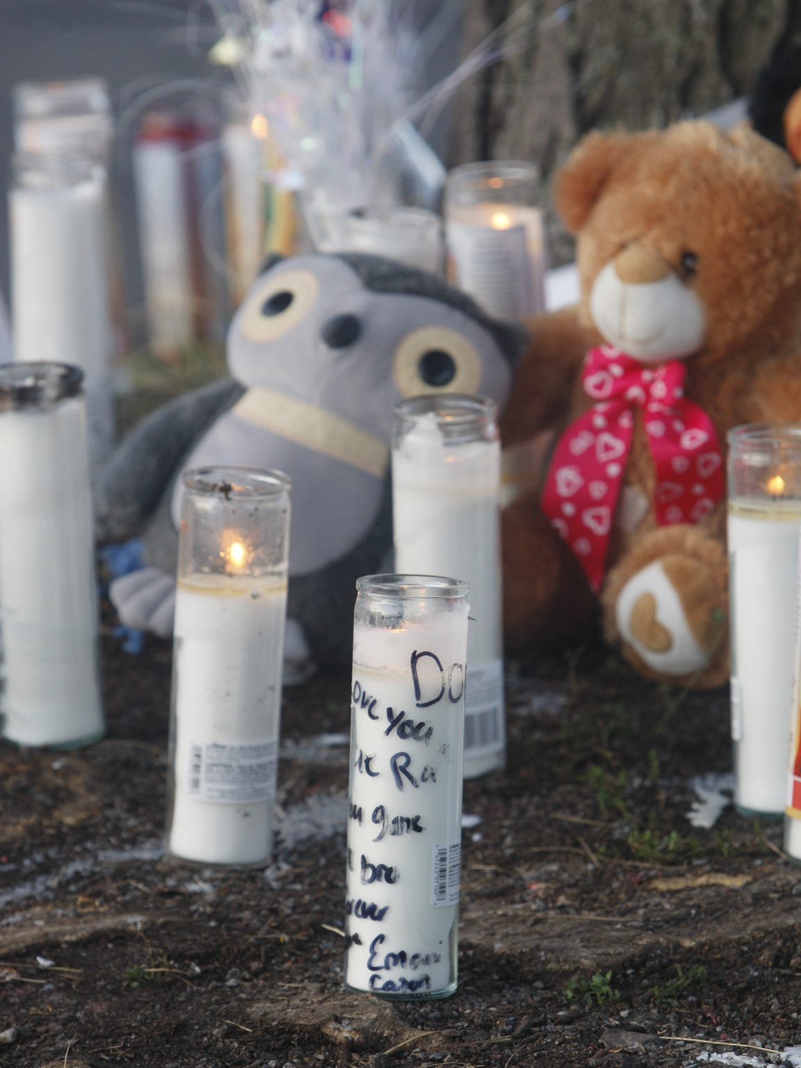 Memorials for the victims of the Genesee Street shooting.