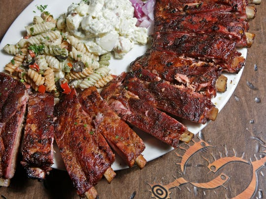 The Four-Rack of BBQ ribs with Dill Potato Salad and