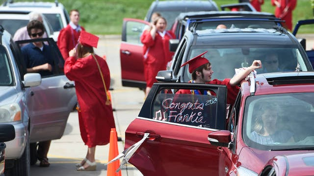 Commencement ceremonies have already been held for Ballard, Gilbert, and Collins-Maxwell school districts over Memorial weekend. File Photo.