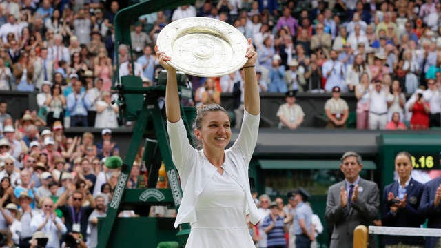 Simona Halep will be unable to defend her 2019 Wimbledon women's singles championship this year, as the event has been canceled for the first time since World War II because of the coronavirus pandemic. The All England Club announced Wednesday that the oldest Grand Slam tournament in tennis would not be held in 2020.