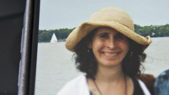 Lara Sobel, 48, of East Montpelier is seen in this family photo shared on Facebook by the Vermont State Employees' Association. Nobel, a Department for Children and Families social worker, was shot and killed Aug. 14 as she left her office in Barre. Police say she was ambushed by a mother who was angry about losing custody of her daughter.