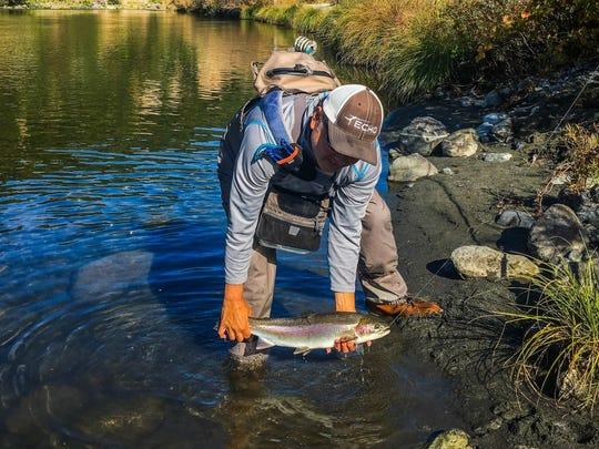 Photo courtesy of Ken Oda: Steelhead fishing.