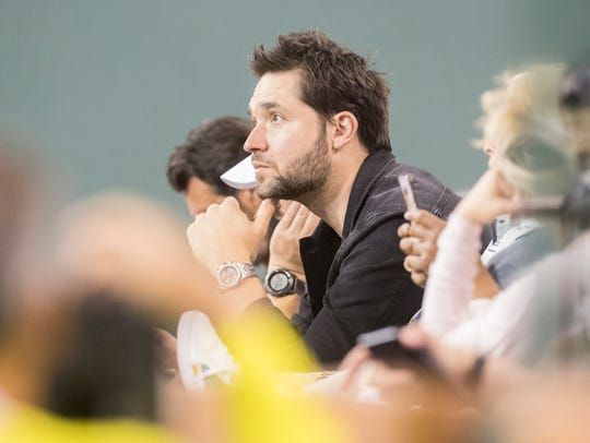 Alexis Ohanian, the husband of Serena Williams, watches