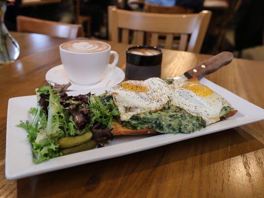 The Eggs Florentine at Dottie Audrey's Bakery & Kitchen