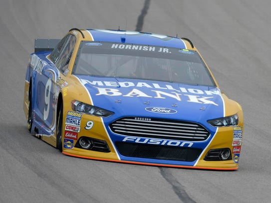 Sam Hornish Jr. during practice at Kansas Speedway.