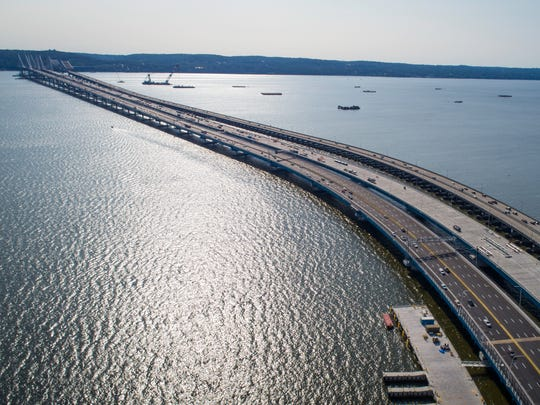 The Gov. Mario M. Cuomo Bridge open up traffic to the general public heading eastbound on Aug. 26, 2017.