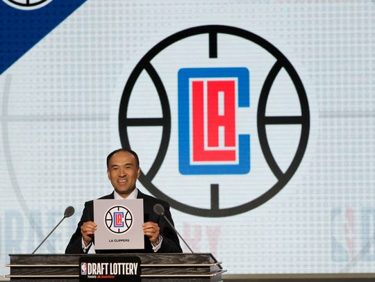 NBA Deputy Commissioner Mark Tatum announces that the