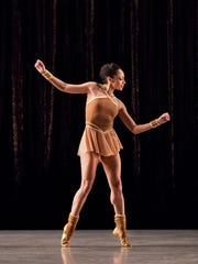 "Linda Celeste Sims dances in Twyla Tharp's ""The Golden Section"" for the Alvin Ailey dance theater."