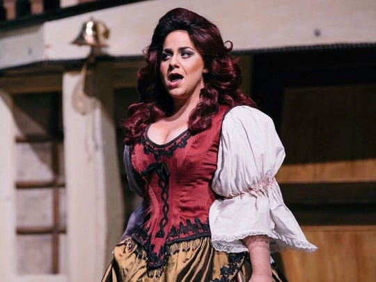 """Jenni Band performs as Buttercup in """"H.M.S. Pinafore."""""""