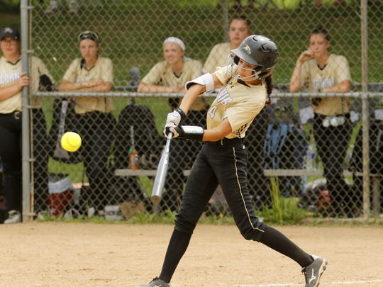 Atalyia Rijo connects for Corning in a 9-8 loss to