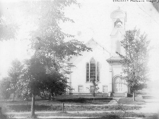 The Milton Methodist Episcopal Church, generally referred to as Methodist, erected its first Main Street church in 1840. The third church built on this site, shown here in the early 1900s, was completed in 1885, and still stands today serving as the Masonic Lodge.