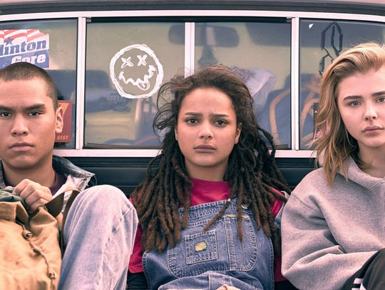"Adam (Forrest Goodluck), Jane (Sasha Lane) and Cameron (Chloë Grace Moretz) forge bonds in conversion therapy in seriocomedy ""The Miseducation of Cameron Post."""