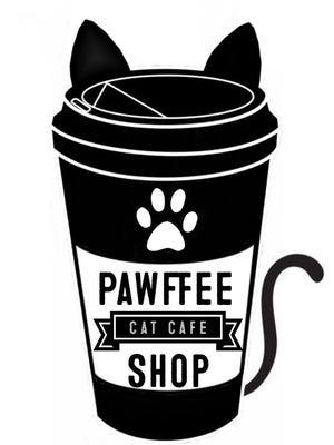 Pawffee Shop Cat Cafe logo