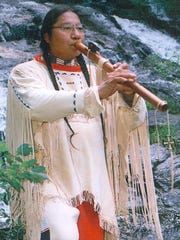 Joseph FireCrow, award winning flute player, will perform at the All Nations Benefit Pow Wow Saturday and Sunday in Susquehanna, Pa.