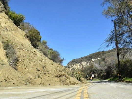 A landslide blocked Highway 27 late last month. Permanent
