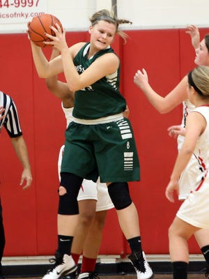 Bishop Brossart's Emily Schultz is averaging 16 points and 8.5 rebounds per game so far this season.