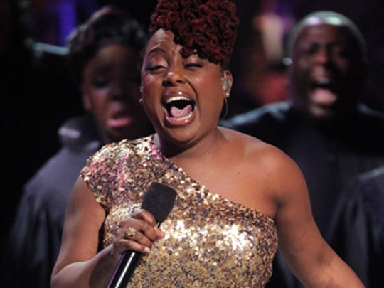 Ledisi, shown during BET's Celebration of Gospel in Los Angeles in 2012, will perform at the Murat Theatre on April 19
