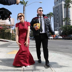 Samantha Bee and Jason Jones in Los Angeles butting into awards season with Butterfinger Cups on Feb.19.