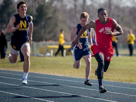 Port Huron senior Jermaine Drake, 17, leads in the