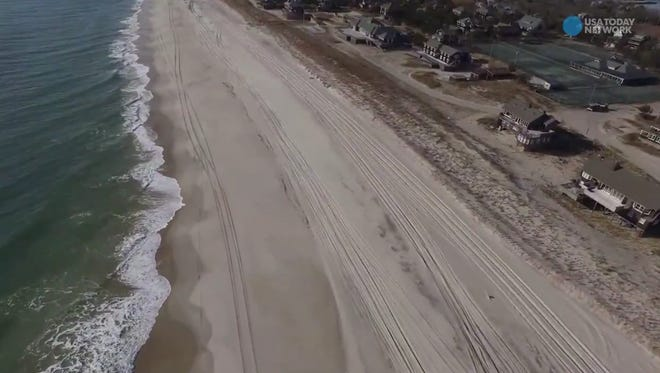 The state Department of Environmental Conservation is using drones to help protect the environment and help in emergencies. This is a shot on Fire Island as part of its beach restoration survey