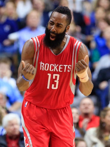Rockets guard James Harden is not the prettiest player