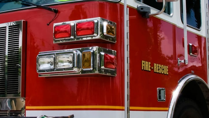 A file photo of a fire engine. Reno firefighters and HAZMAT team investigate report of unknown substance in the air at a south Reno Starbucks, prompting authorities to evacuate 12 customers.