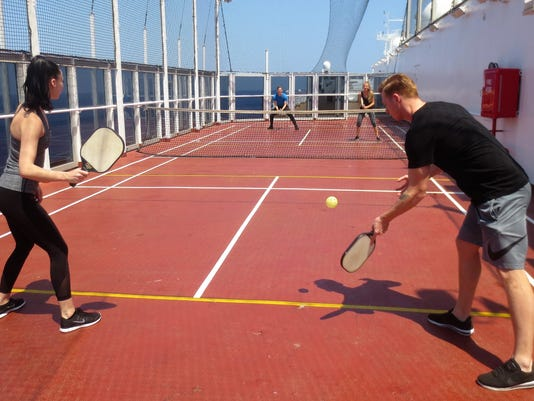 Cruise-ship pickleball