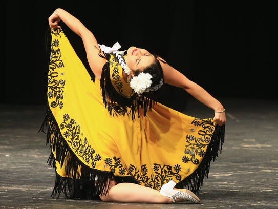 Mireya Guerrero performs during the 57th annual Feria