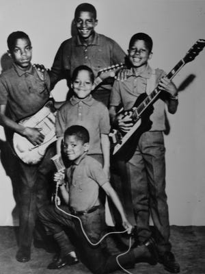 Michael Jackson (front center) with the Jackson 5 in 1968, the year the group successfully auditioned for Motown Records.