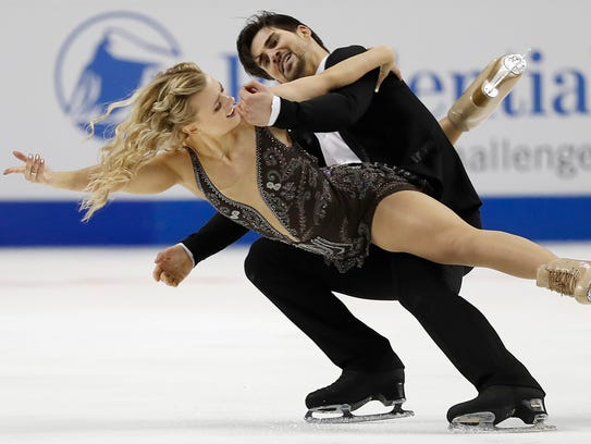 Madison Hubbell, left, and Zachary Donahue, representing