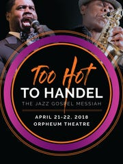 "Memphis when it sizzles: The logo for the Orpheum's ""Too Hot to Handel."""