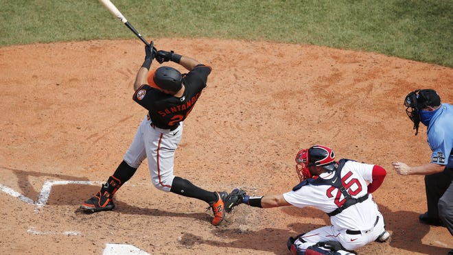 Anthony Santander's two-run double finished off the Red Sox on Saturday.
