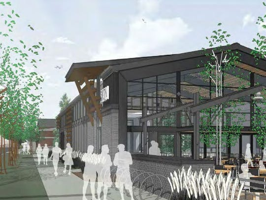 This rendering shows the Linden Street restaurant proposed