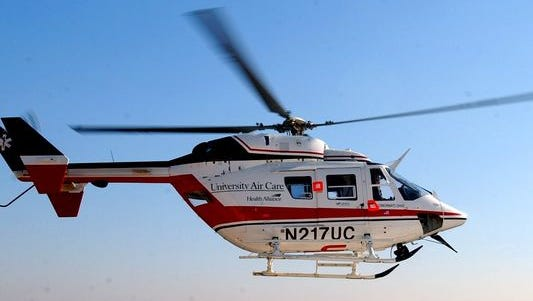 A 52-year-old woman was flown to the hospital after she was found suffering from hypothermia.